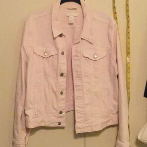 H&M Jackets & Coats - H&M pink denim jean jacket 16
